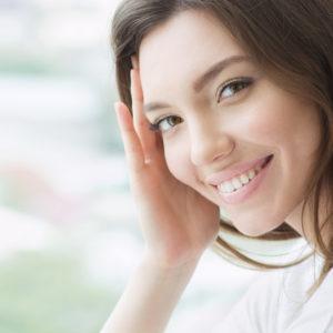 Smiling Female tilted head